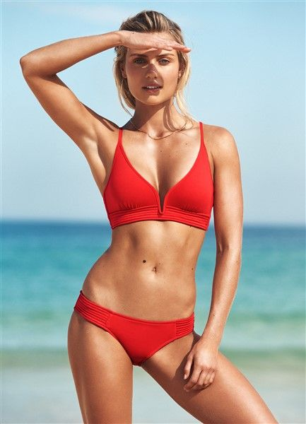 Seafolly Quilted Bralette Bikini Top - Chilli